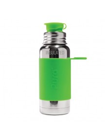 Pura Kiki Steel Water Insulated Sport Bottle 16oz/475ml Green