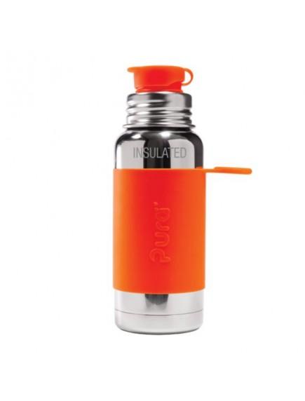 Pura Kiki Steel Water Insulated Sport Bottle 16oz/475ml Orange