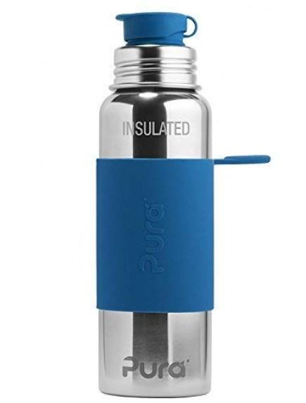 Pura Kiki Steel Water Insulated Sport Bottle 22oz/650ml Steel Blue