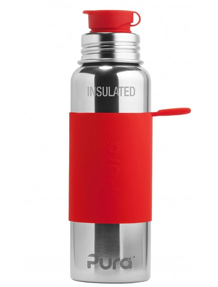 Pura Kiki Steel Water Insulated Sport Bottle 22oz/650ml Red