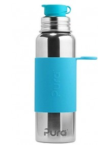 Pura Kiki Steel Water Sport Bottle 28oz/850ml Aqua