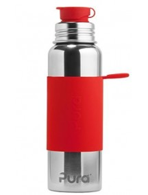 Pura Kiki Steel Water Sport Bottle 28oz/850ml Red