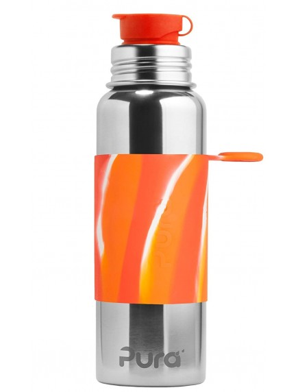 Pura Kiki Steel Water Sport Bottle 28oz/850ml Orange Swirl