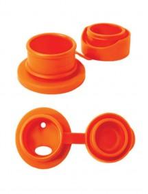 Pura Kiki 22oz / 650 ml Orange Swirl Sleeve Vacuum Insulated Stainless Steel Sports Bottle