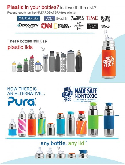 Pura Kiki Silicone Bottle Bumper Aqua - for 5oz, 9oz, 11oz Pura Stainless Bottle