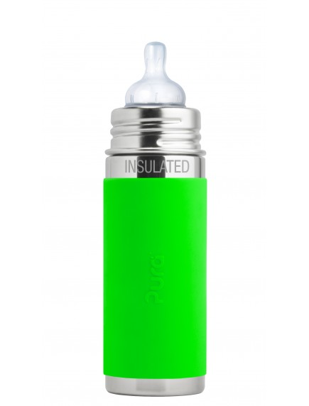 Pura Kiki 9oz Green Sleeve Vaccum Insulated Infant Feeding Bottle By Montyybucks Inc.
