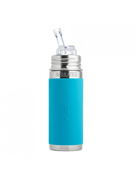 Pura Kiki 9oz Aqua Sleeve Straw Vaccum Insulated Bottle By Montyybucks Inc.