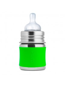 Pura Kiki 5oz  Green Sleeve Stainless Steel Feeding Bottle By Montyybucks Inc.