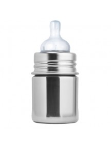 Pura Kiki 5oz Natural Stainless Steel Feeding Bottle By Montyybucks Inc.