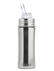 Pura Kiki 11oz Natural Straw Stainless Steel Bottle By Montyybucks Inc.