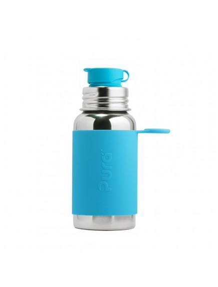 Pura Kiki Steel Water Bottle Flip Lid 18oz/550ml Aqua