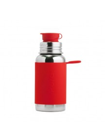 BIG MOUTH™ Sport 18oz Bottle with Sleeve Red