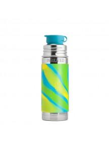 Pura Kiki 9oz / 260 ml Aqua Swirl Sleeve Vacuum Insulated Stainless Steel Sports Bottle